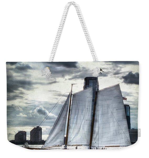 Sailing On The Hudson Weekender Tote Bag