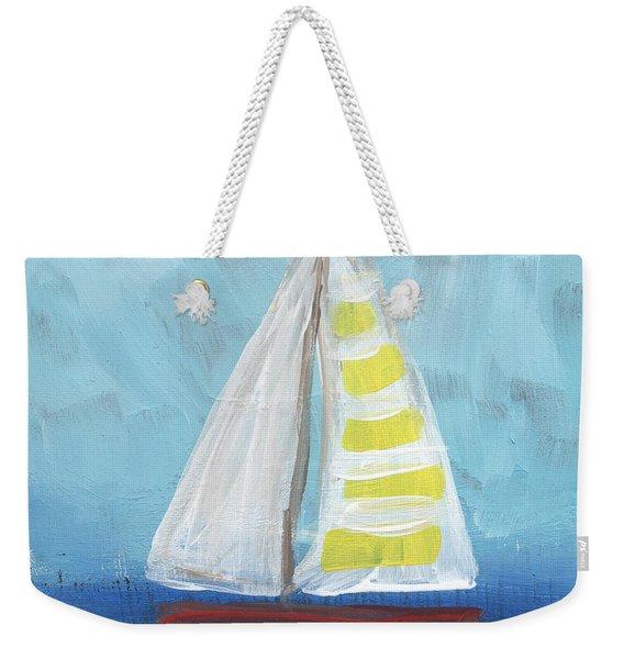Sailing- Sailboat Painting Weekender Tote Bag