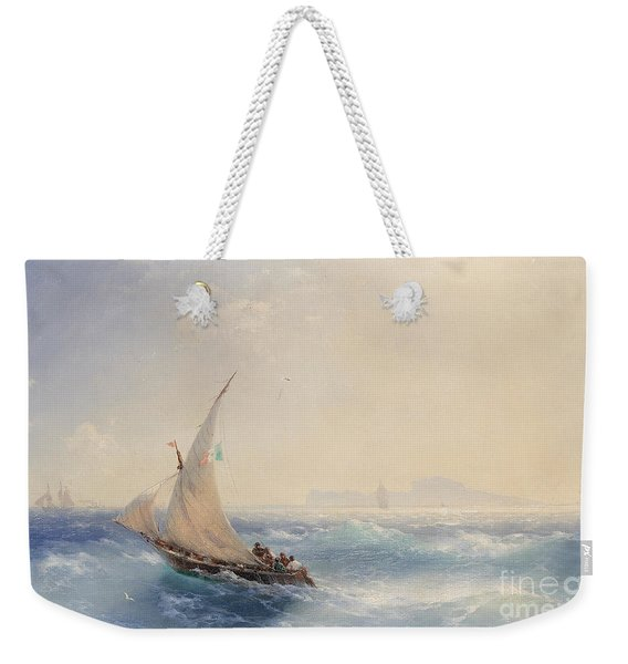 Shipping Off The Island Of Ischia Weekender Tote Bag