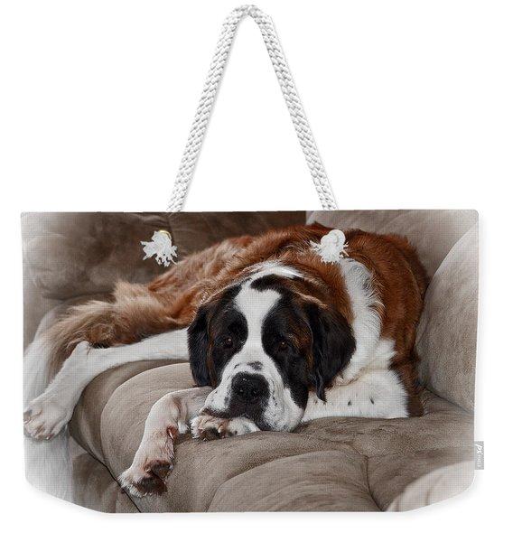 Saint Bernard Weekender Tote Bag
