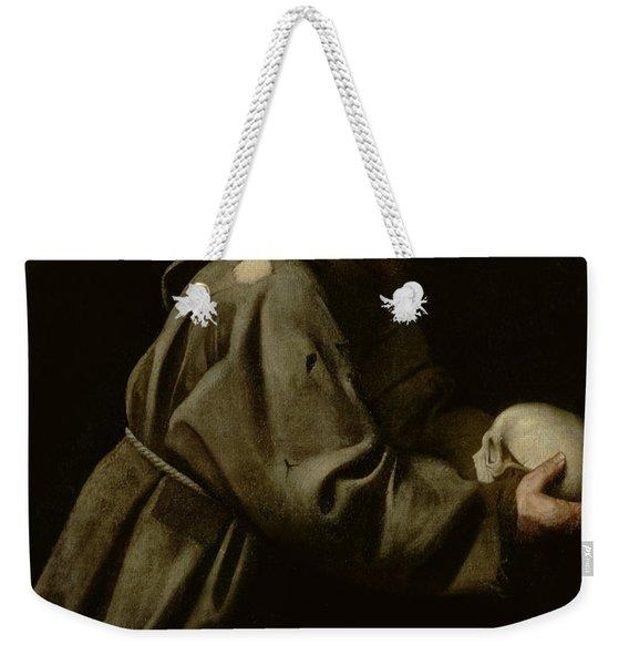 Saint Francis In Meditation Weekender Tote Bag