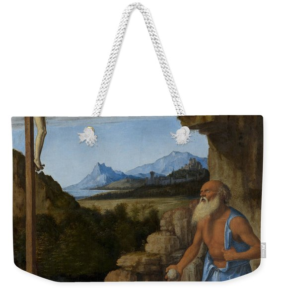 Saint Jerome In The Wilderness Weekender Tote Bag