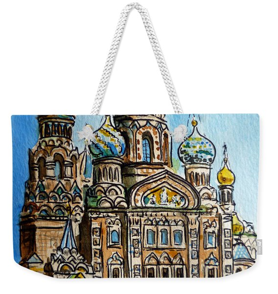 Saint Petersburg Russia The Church Of Our Savior On The Spilled Blood Weekender Tote Bag