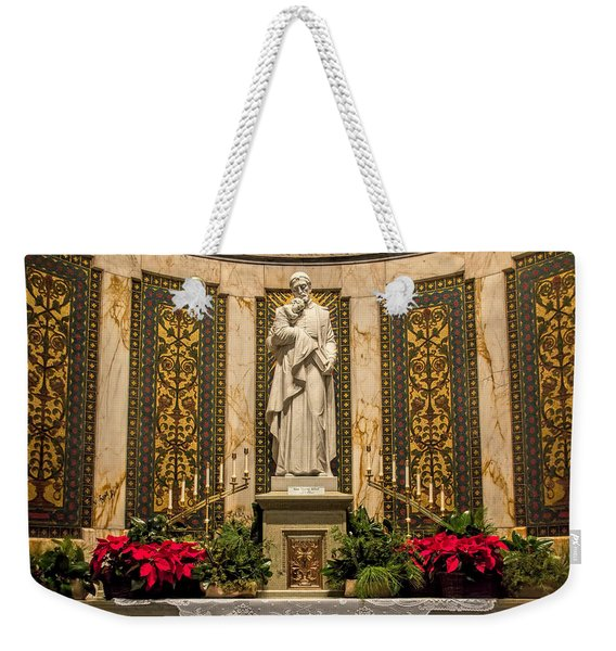 Weekender Tote Bag featuring the photograph Saint Vincent Depaul Chapel by Jemmy Archer