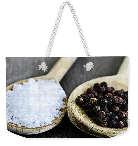 Salt And Pepper Weekender Tote Bag