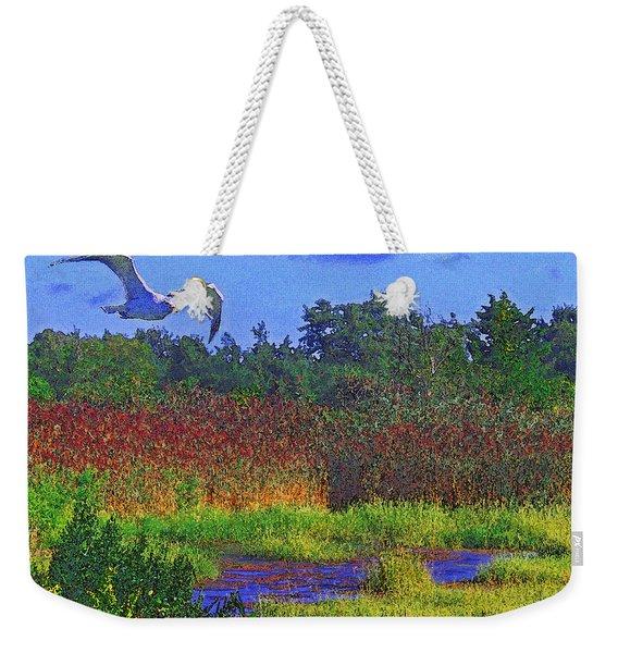 Salt Marsh Gull Weekender Tote Bag