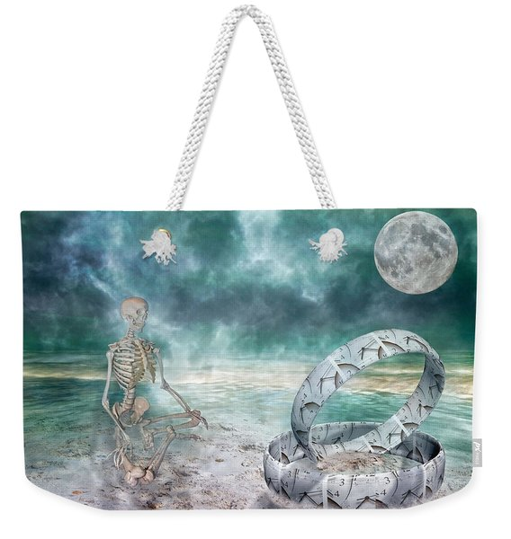 Sam Meditates With Time One Of Two Weekender Tote Bag