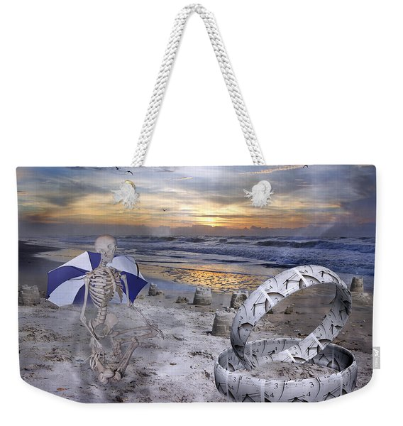 Sam Meditates With Time Two Of Two Weekender Tote Bag