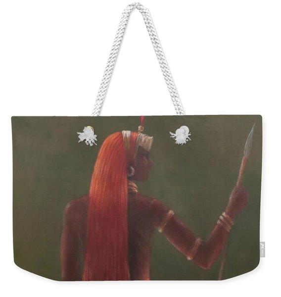 Samburu, 2012 Acrylic On Canvas Weekender Tote Bag