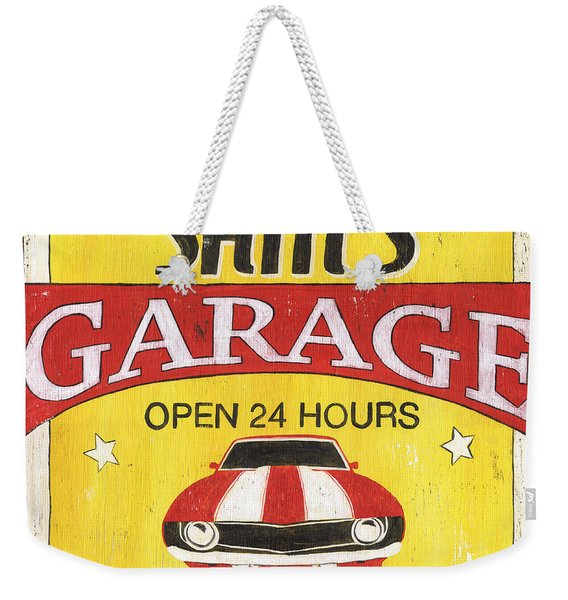 Sam's Garage Weekender Tote Bag