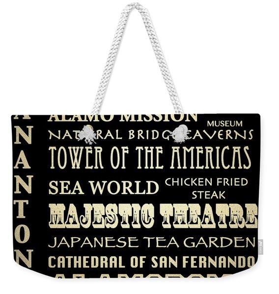 San Antonio Texas Famous Landmarks Weekender Tote Bag
