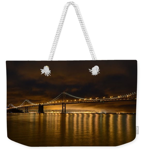 San Francisco - Bay Bridge At Night Weekender Tote Bag