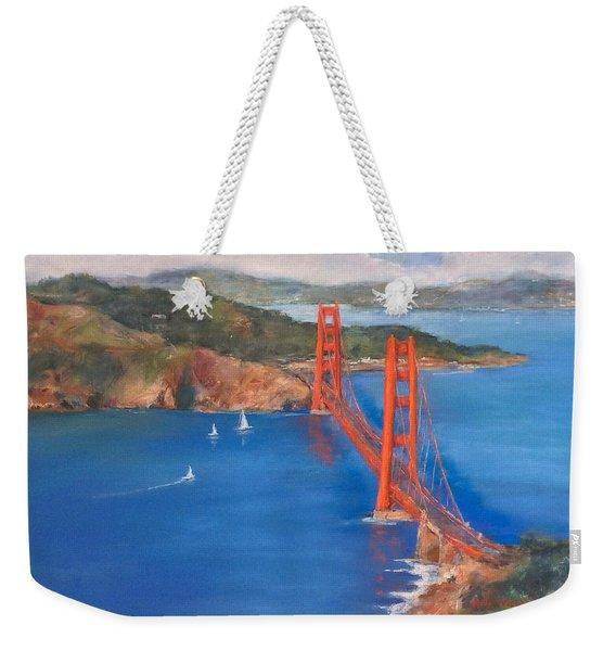 San Francisco Bay Bridge Weekender Tote Bag