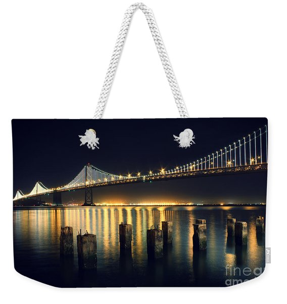 San Francisco Bay Bridge Illuminated Weekender Tote Bag