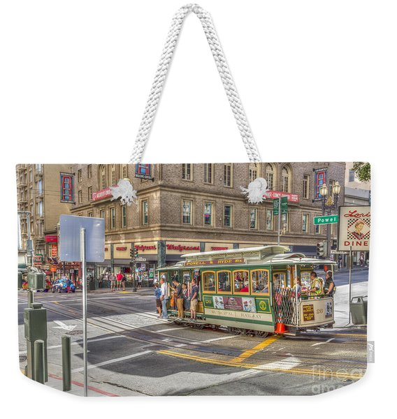 San Francisco Cable Car Weekender Tote Bag