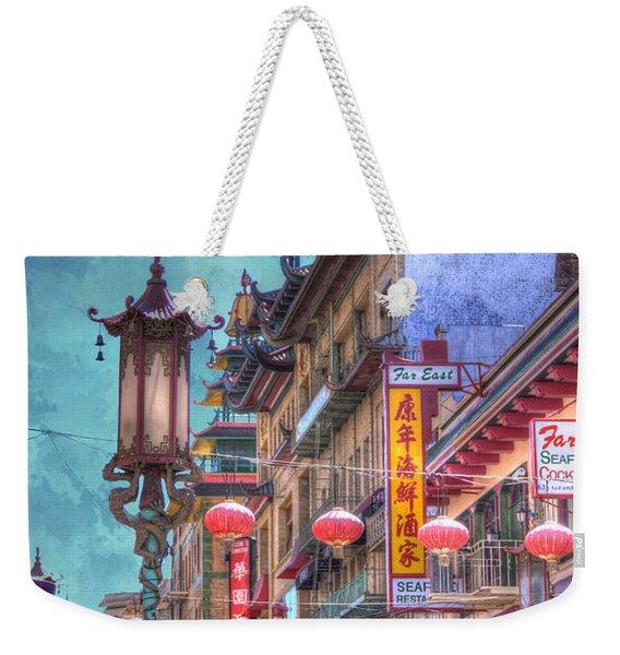 San Francisco Chinatown Weekender Tote Bag