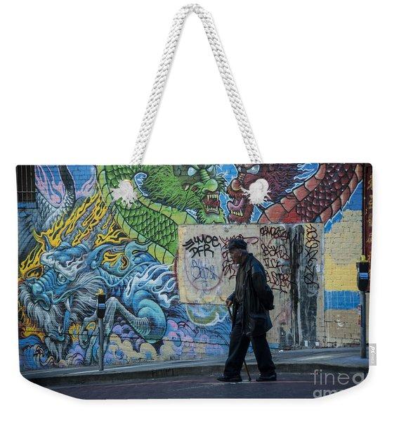 San Francisco Chinatown Street Art Weekender Tote Bag
