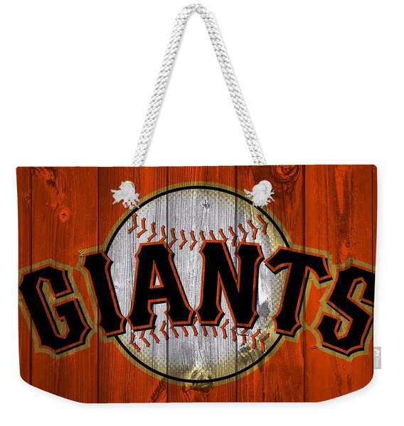 San Francisco Giants Barn Door Weekender Tote Bag