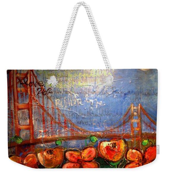 San Francisco Poppies For Lls Weekender Tote Bag