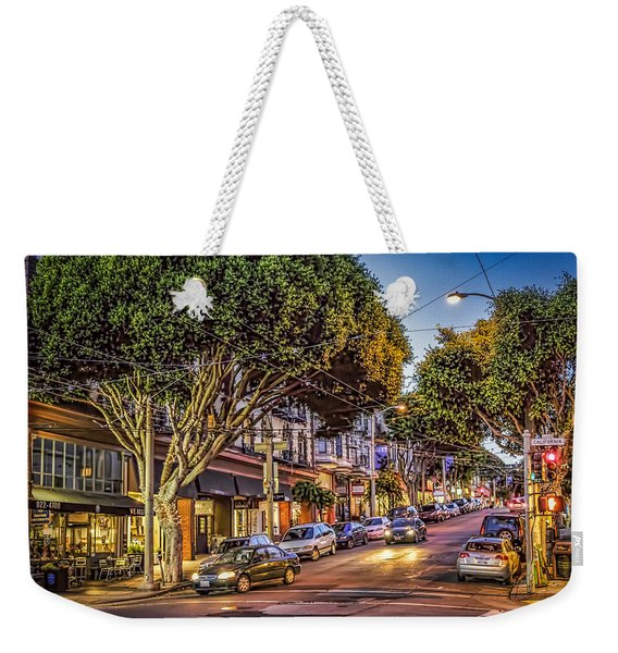 Weekender Tote Bag featuring the photograph Hdr Effect - San Francisco Street by Susan Leonard
