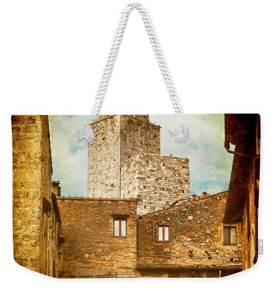 San Gimignano Italy Weekender Tote Bag