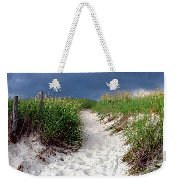 Sand Dune Under Storm Weekender Tote Bag