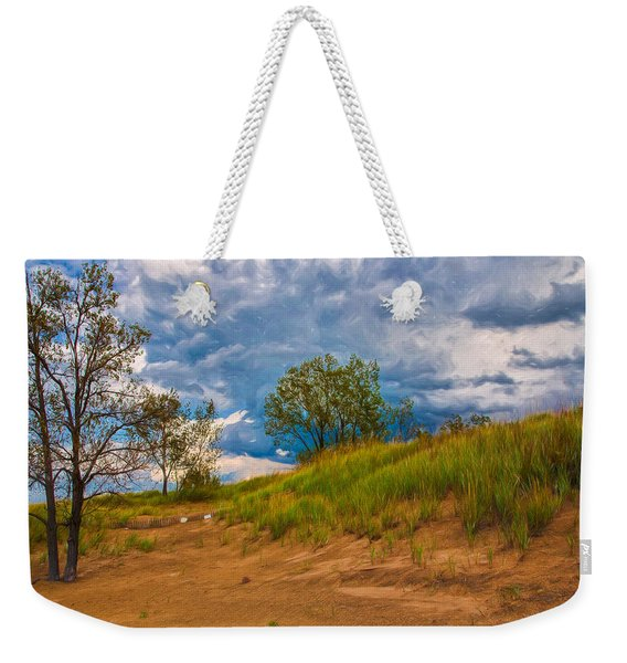 Sand Dunes At Indian Dunes National Lakeshore Weekender Tote Bag