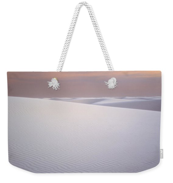 Sand Dunes Of Gypsum In The Morning Weekender Tote Bag