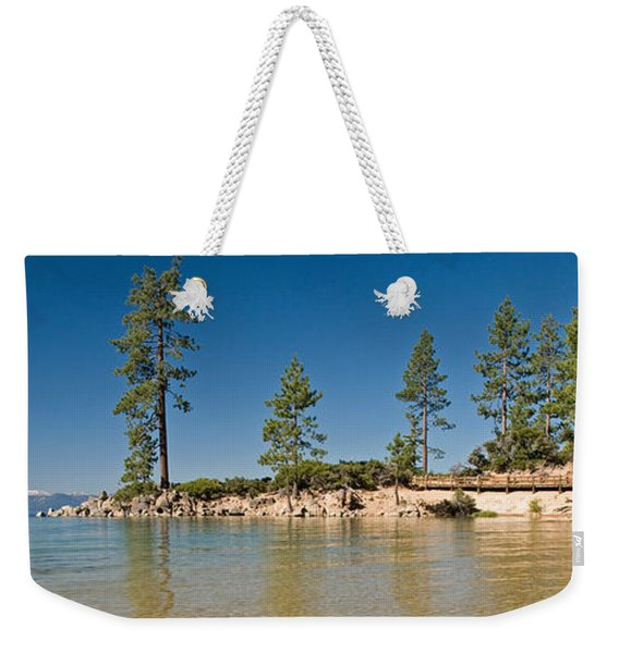 Sand Harbor At Morning, Lake Tahoe Weekender Tote Bag
