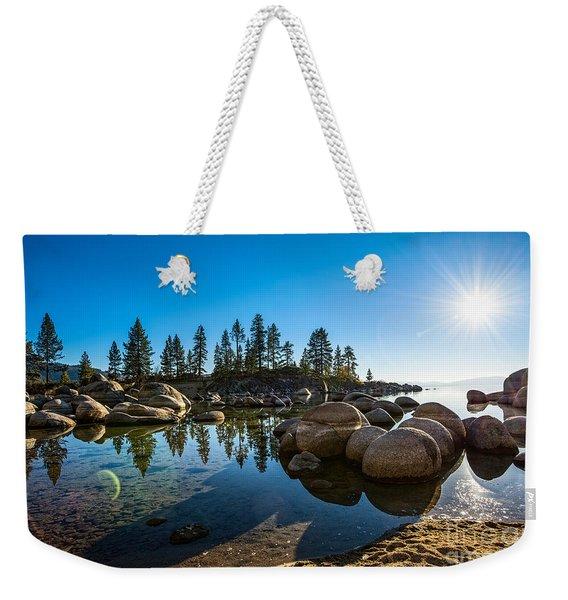 Sand Harbor Star Weekender Tote Bag