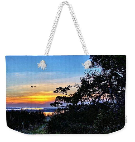 Sand Lake Sunset Weekender Tote Bag