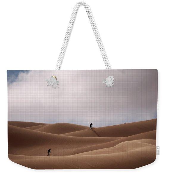 Sand Skiing Weekender Tote Bag