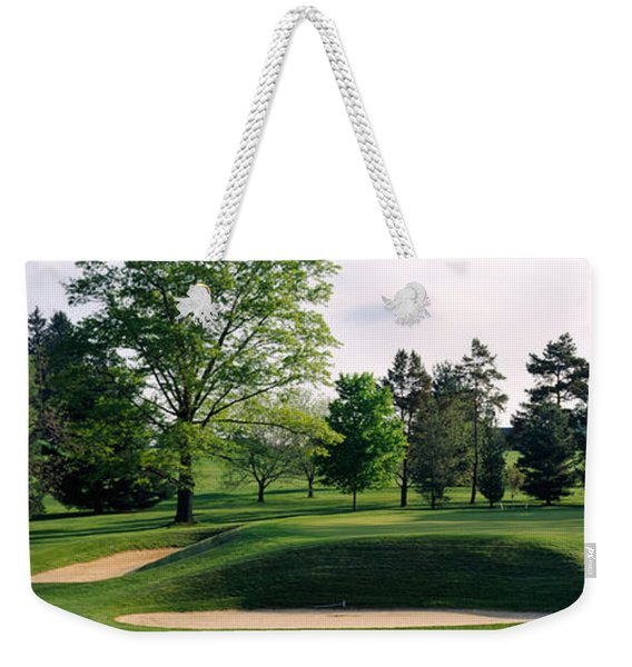 Sand Traps On A Golf Course, Baltimore Weekender Tote Bag