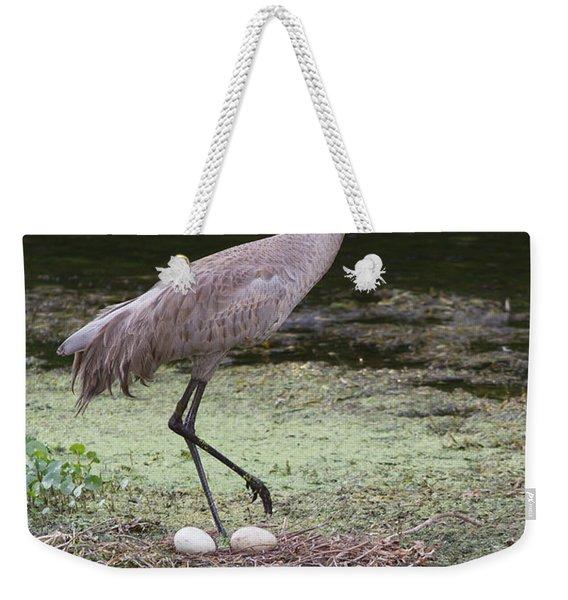 Sandhill Crane And Eggs Weekender Tote Bag