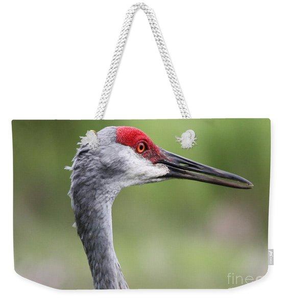 Sandhill Crane Closeup Weekender Tote Bag