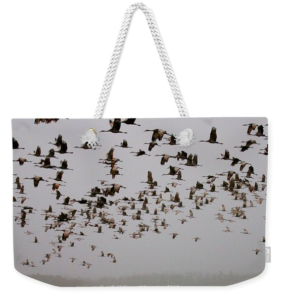 Sandhill Crane Migration Weekender Tote Bag