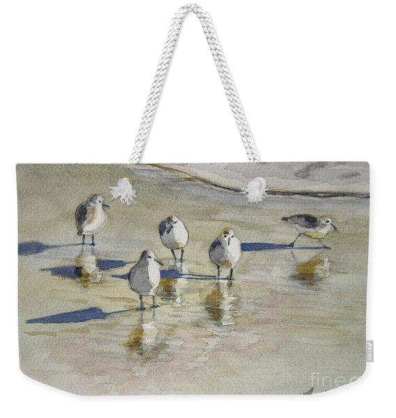 Sandpipers 2 Watercolor 5-13-12 Julianne Felton Weekender Tote Bag