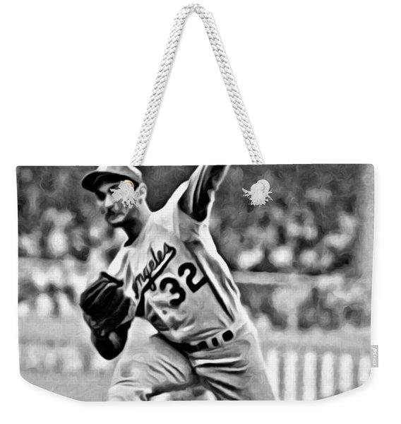 Sandy Koufax Throwing The Ball Weekender Tote Bag