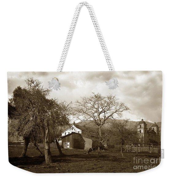Santa Barbara Mission California Circa 1890 Weekender Tote Bag