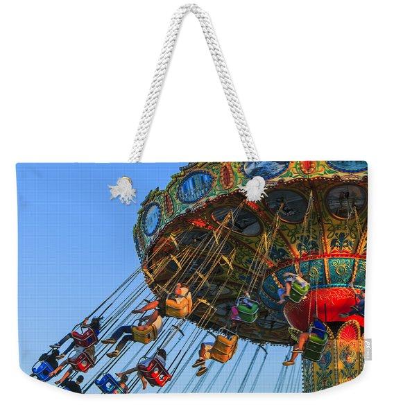 Santa Cruz Seaswing At Sunset 5 Weekender Tote Bag