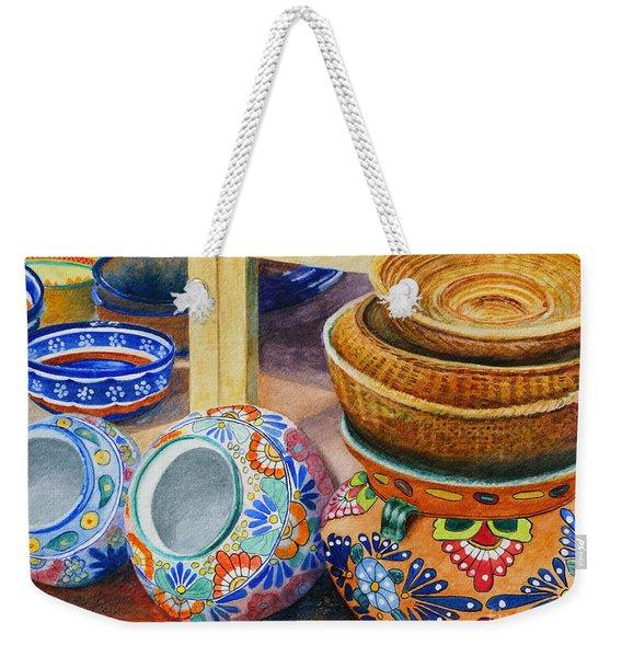 Santa Fe Hold 'em Pots And Baskets Weekender Tote Bag