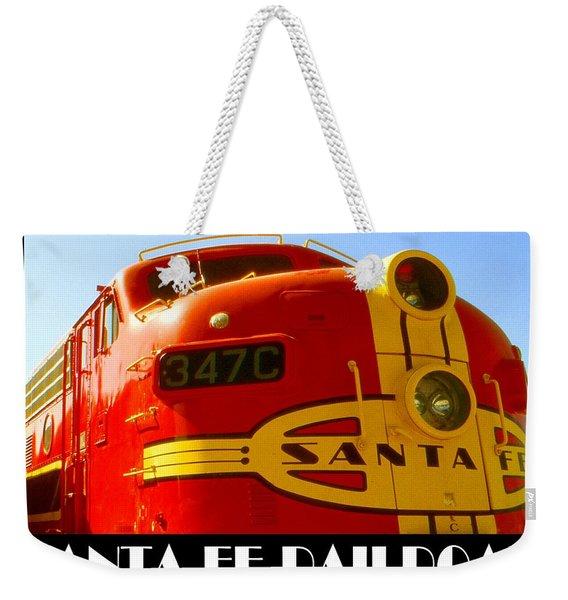 Santa Fe Railroad Color Poster Weekender Tote Bag
