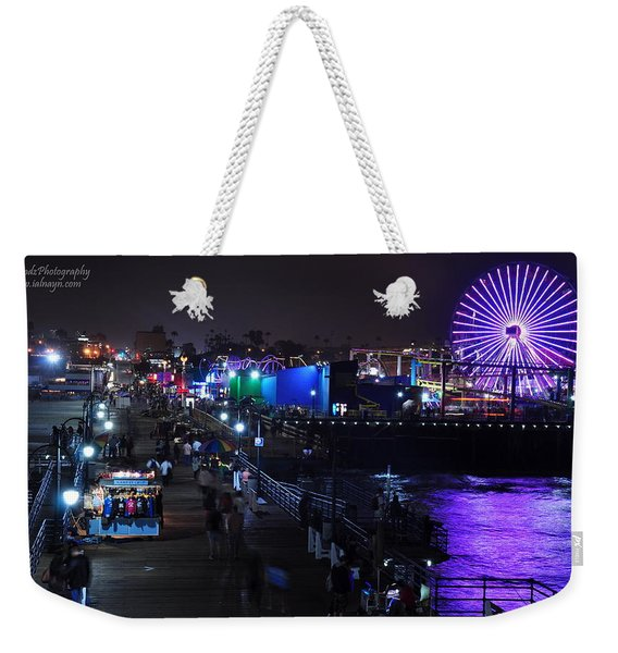 Santa Monica Pier 5 Weekender Tote Bag