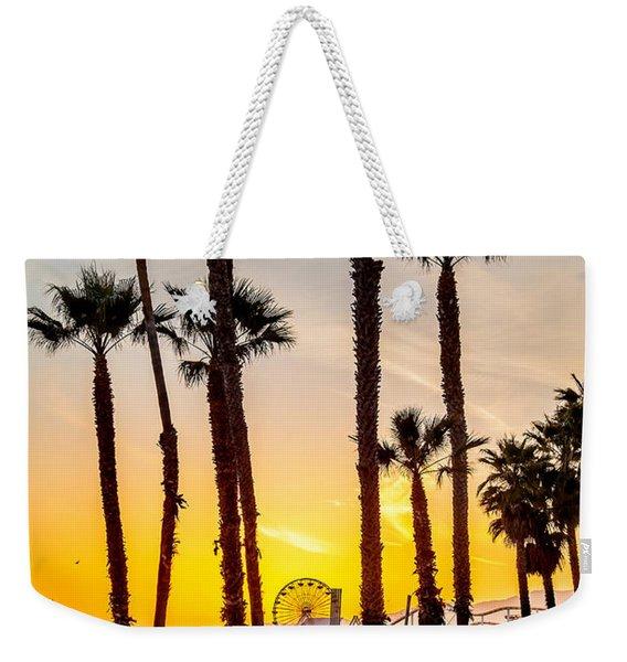 Santa Monica Palms Weekender Tote Bag