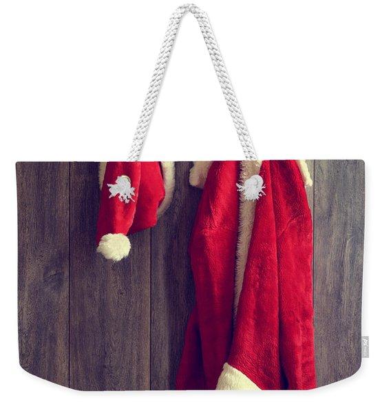 Santa's Hat And Coat Weekender Tote Bag