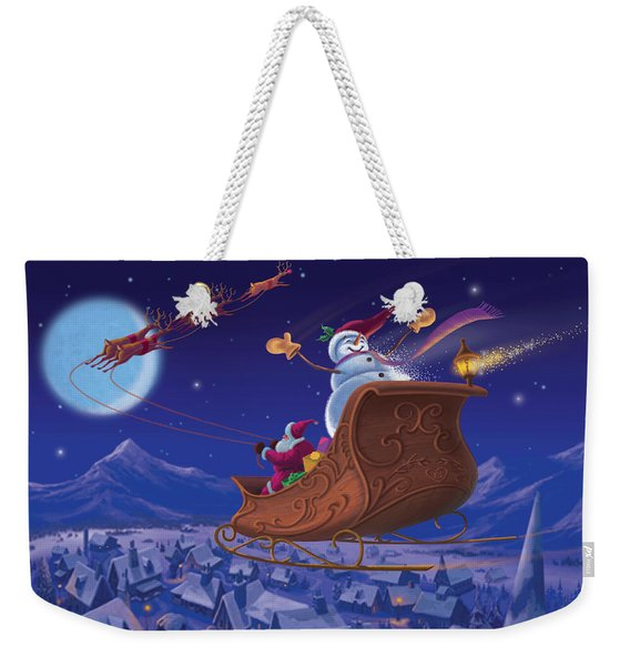 Santa's Helper Weekender Tote Bag