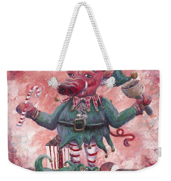 Santa's Littlest Elf Hog Weekender Tote Bag