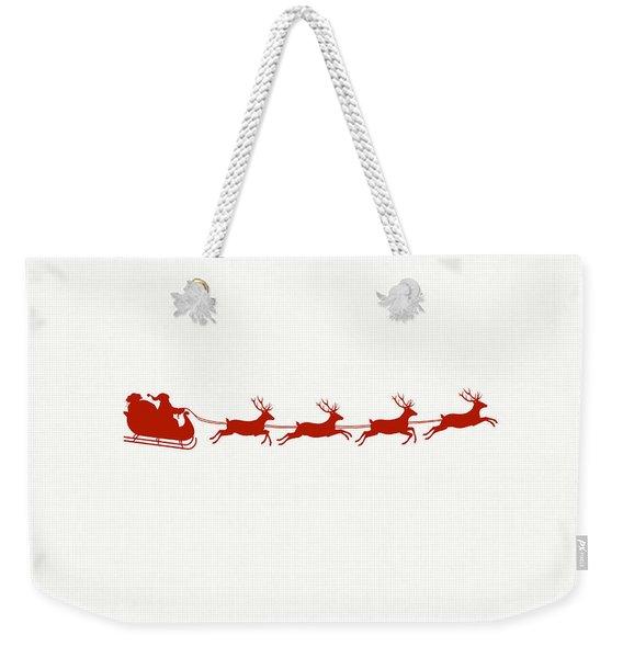 Santa's Sleigh Weekender Tote Bag