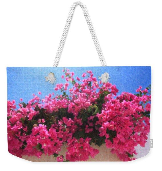 Santorini Flowers Grk1113 Weekender Tote Bag