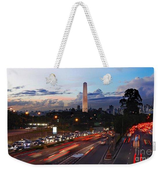 Sao Paulo Skyline - Ibirapuera Weekender Tote Bag